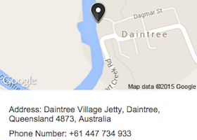 Map for Daintree River Wild Watch